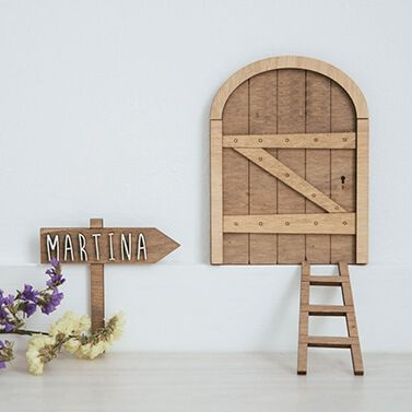Customized Tooth Fairy's door in wood